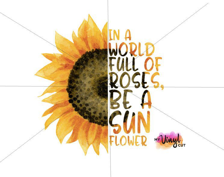 Image result for Create a new file at print resolution Sunflower