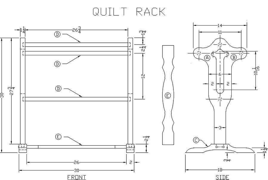 Free Quilt Rack Woodworking Plan from Lee\'s Wood Projects ...