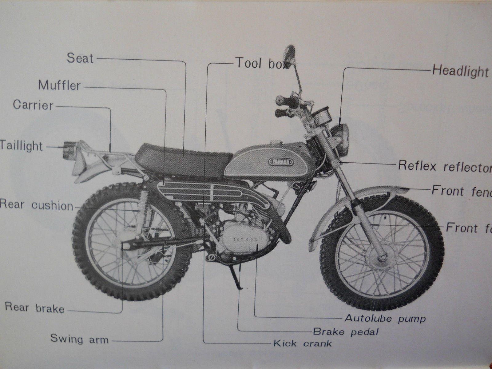 original yamaha 1969 ct1 175 vintage enduro owners manual handbook rh pinterest co uk yamaha motorcycle owners manuals free yamaha motorcycle owners manuals free