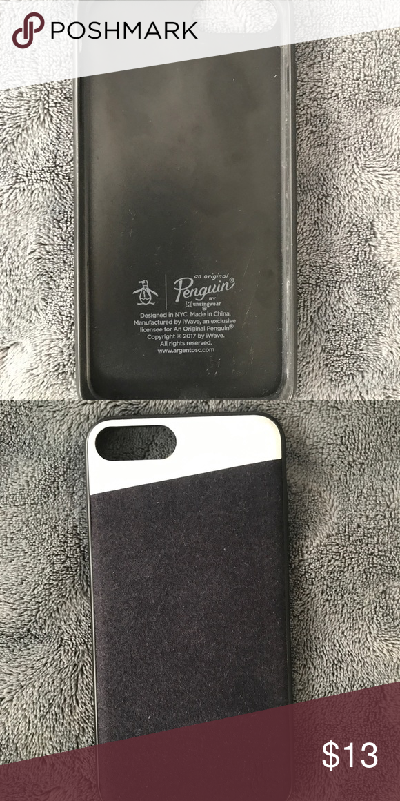 online retailer 3ecec 44bf0 Original Penguin Phone Case used need gone!!!! Used Iphone 7 Plus ...