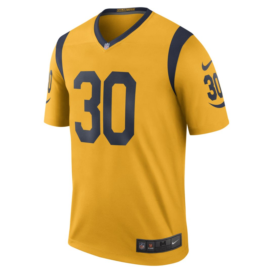 Nfl Los Angeles Rams Color Rush Legend Todd Gurley Men S Football Jersey Size S University Gold Todd Gurley Rams Color Rush Nfl Los Angeles