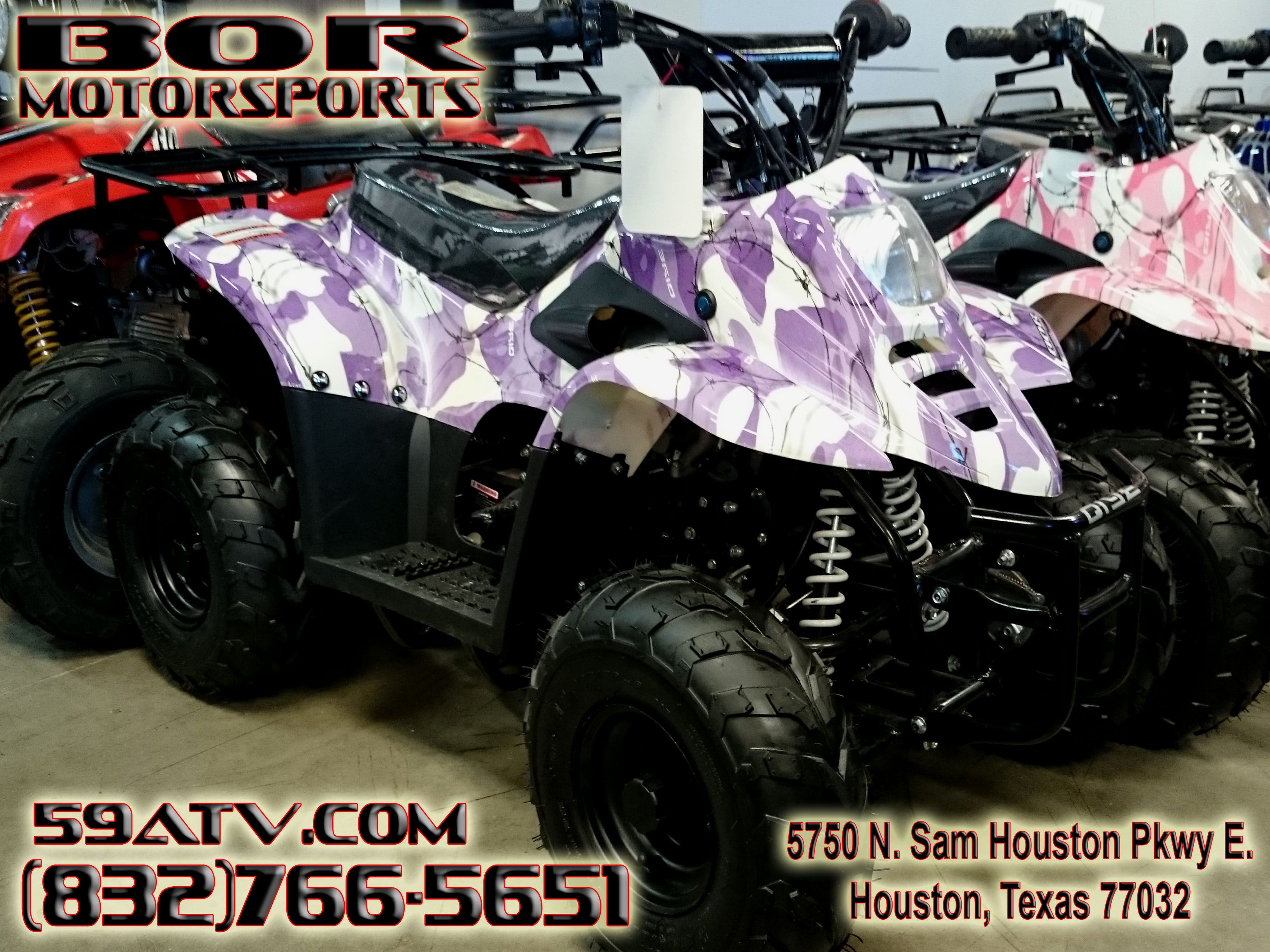 Pink Camo ATV Kids 110cc 4 Wheeler This Kids ATV comes complete with ...