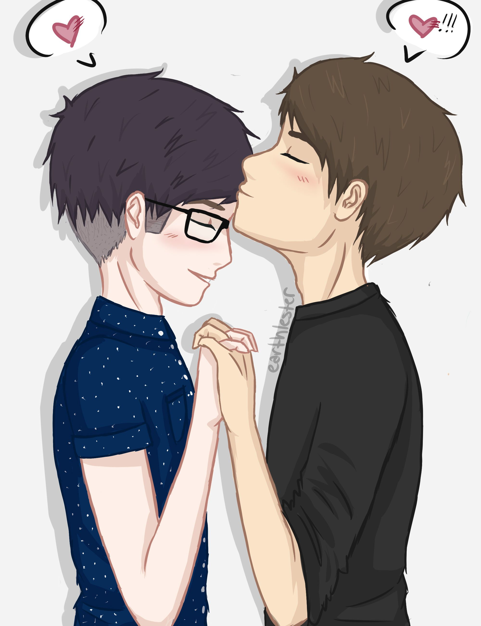 Aaaaah I Just Can T Handle The Cuteness Dan And Phil Fanart Dan And Phil Phan Fanart