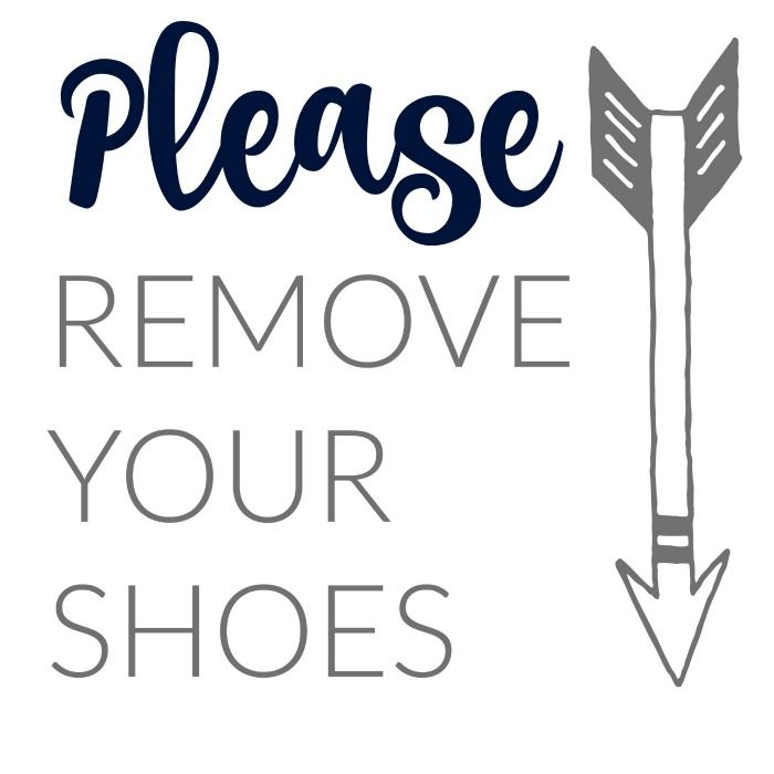 photograph relating to Please Remove Your Shoes Sign Printable Free named Pin by way of Brooke Williams upon For the Household within 2019 Get rid of