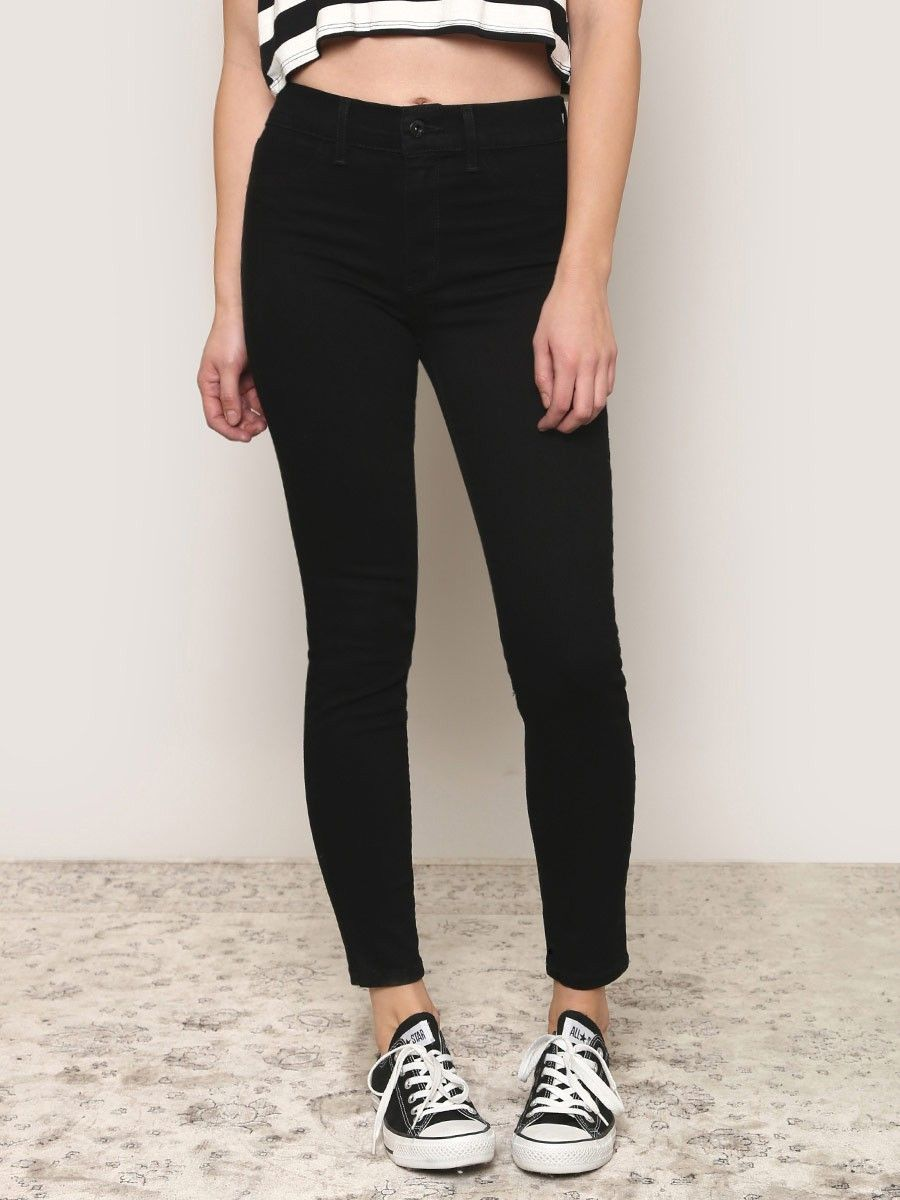Naomi High Waist Jeans - Black - Gypsy Warrior