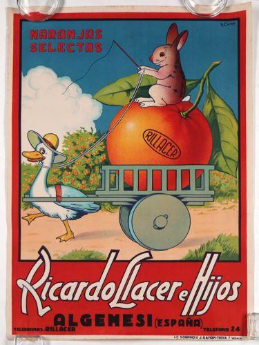 Rare-1920s-Spanish-Orange-Advertising-Poster-Affiche ...