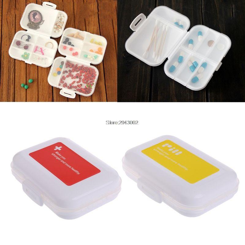 8 Cells Mini Dispenser Storage Box Plastic Foldable Medicine Vitamin