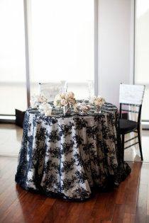 Black Lace Overlays Style Me Pretty Black Black Lace Wedding Black Lace Table Wedding Decor Elegant