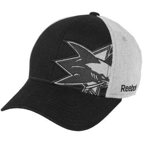126b8d0a536 NHL Reebok San Jose Sharks Offsides Flex Hat - Black-Gray (Small Medium
