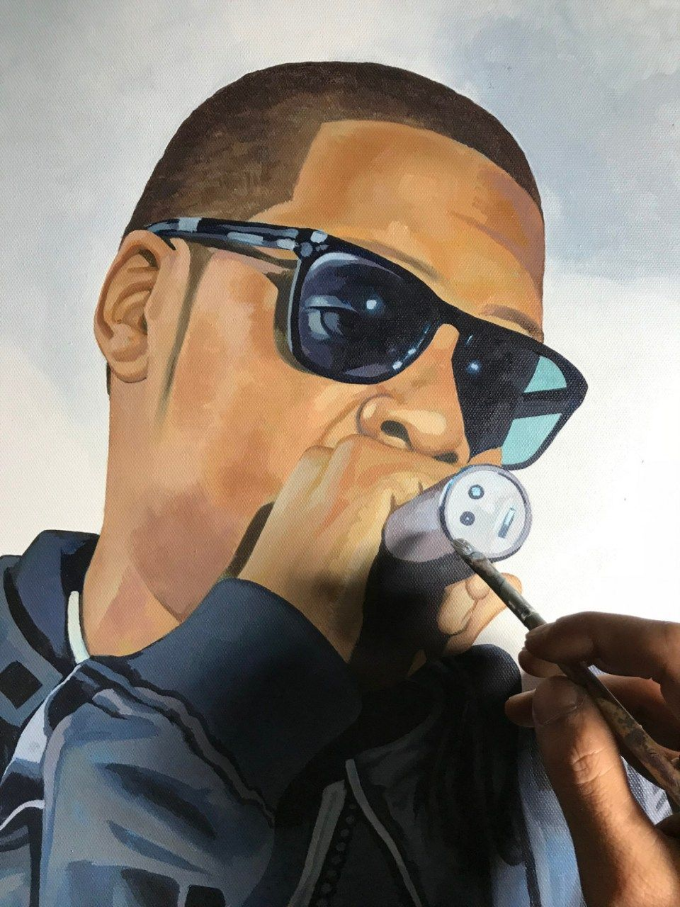 The 10 Steps Needed For Putting Jay Z Painting Into Action | Jay Z Painting | Caricature, Wedding caricature, Caricature wedding