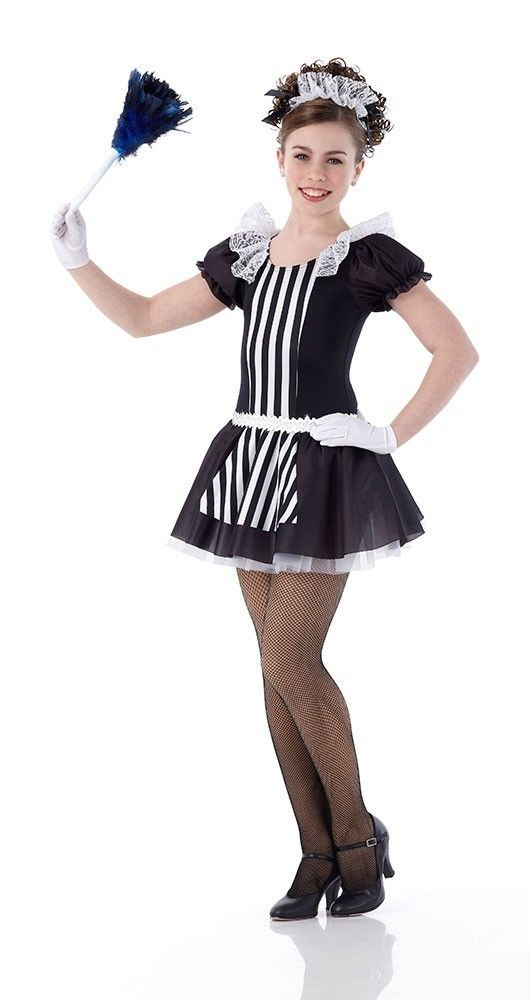 9772c47af BE OUR GUEST Maid Dress & Gloves Ice Skating Dance Costume Child X-Small to  6x7 #Cicci