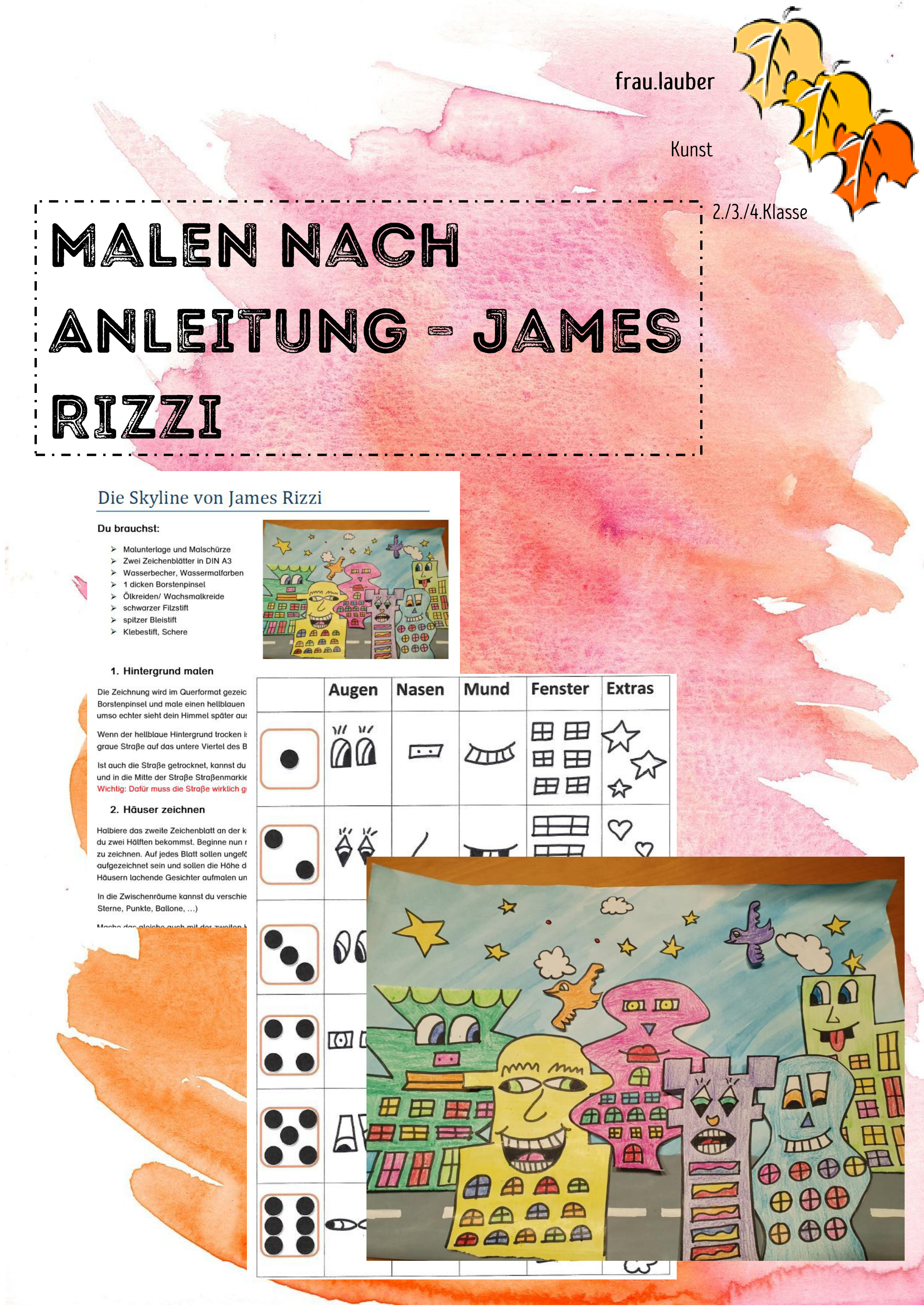 Die Skyline Von James Rizzi Malen Nach Anleitung Unterrichtsmaterial Im Fach Kunst James Rizzi Kunstunterricht Kunstler Grundschule