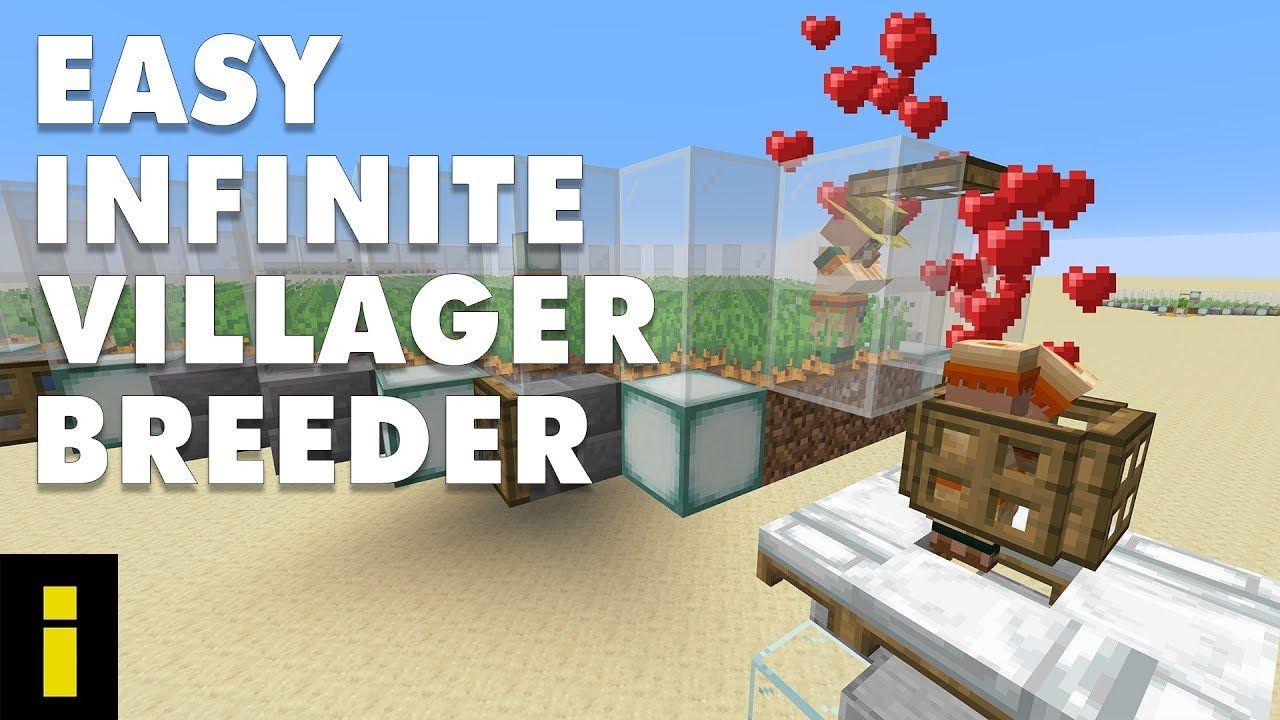 Easy Infinite Villager Breeder For Minecraft 1 15 2 Tutorial Youtube Minecraft Breeders Minecraft Designs