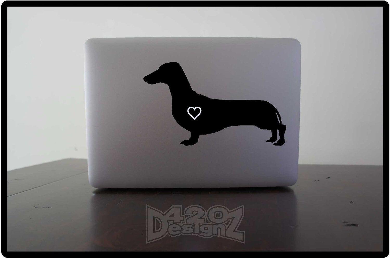 Dachshund Macbook Air Macbook Pro Macbook Decals Sticker Vinyl Mac Decals Apple Mac Decal Laptop Ipad By 420designz O Macbook Decal Mac Decals Macbook [ 993 x 1500 Pixel ]