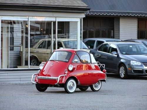 1957 BMW  Isetta Convertible Mini Car Clean Red 398k For Sale