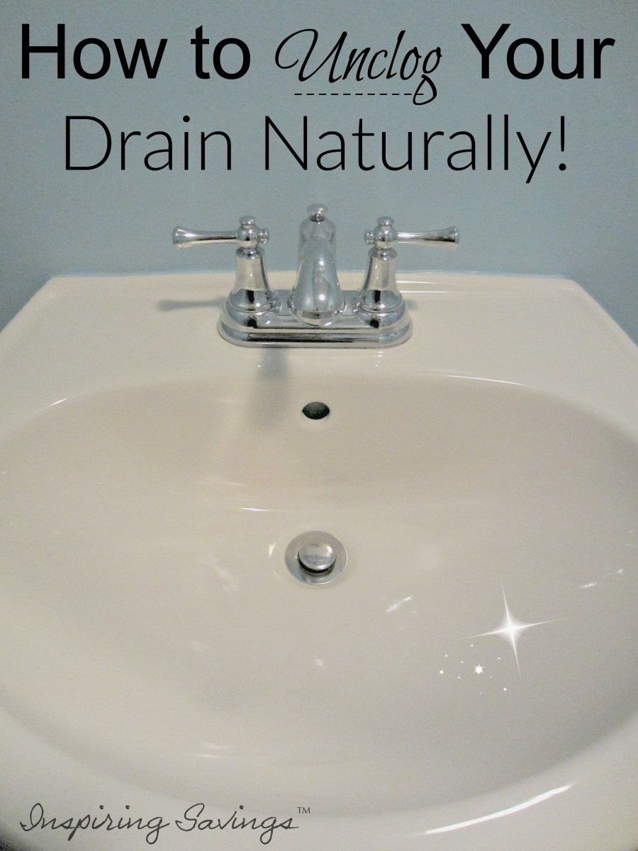 How to Unclog Your Drain Naturally 2 Ingredients