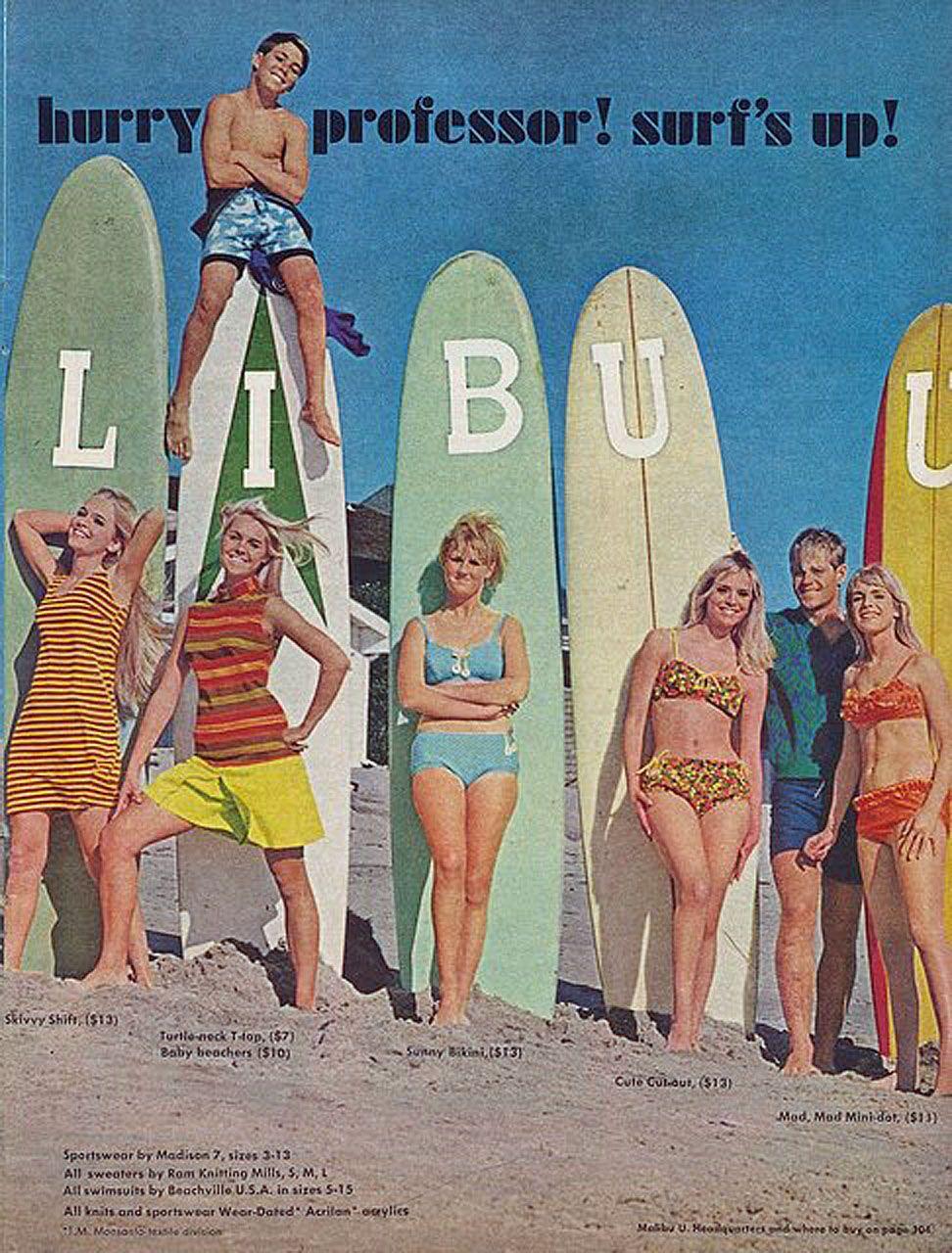 1966527e25 Old Surf clothes ad. | SURF | Surf outfit, Malibu surf, Vintage surf