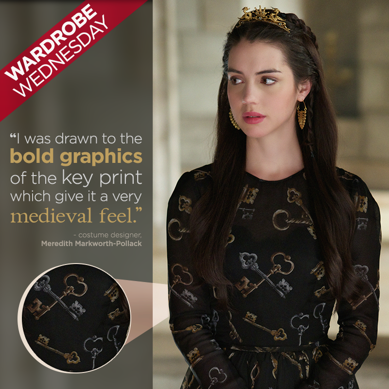 cwreign:Mary's dress holds the keys to our hearts! Be sure to tune in to the return of Reign TOMORROW at 9/8c! http://www.markworthpollack.com/