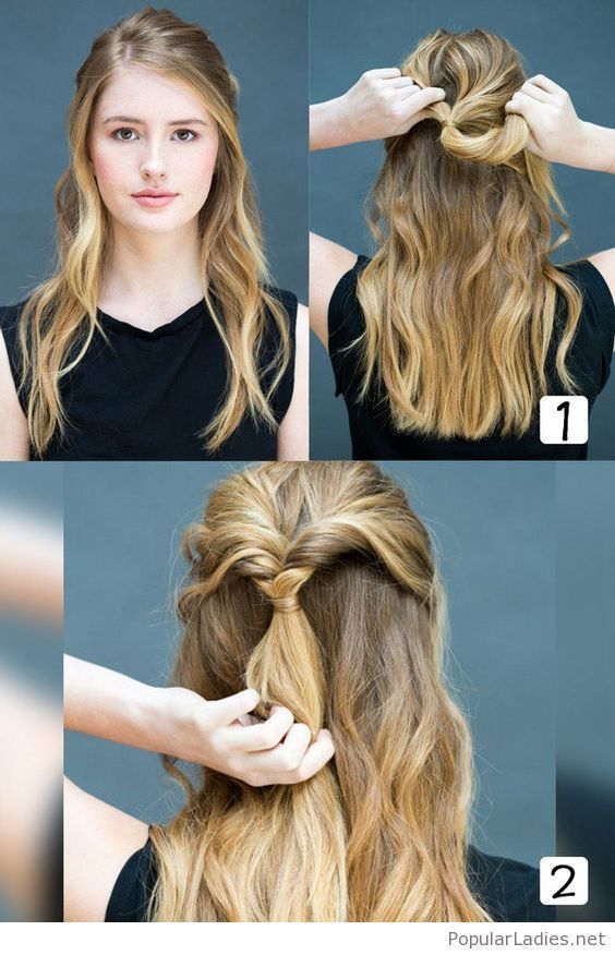 Very Simple Hairstyle From A Half Up Hairstyle Easy Hairstyles Hair Styles Womens Hairstyles