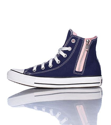 CONVERSE High top women's sneaker Side zip detail Lace closure Two tone interior/exterior Cushioned sole for ultimate comfort