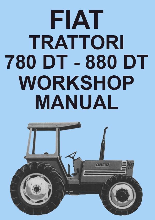 fiat tractor 780 780dt 880 880dt workshop manual fiat car rh pinterest com fiat 411r tractor manual fiat tractor manuals free