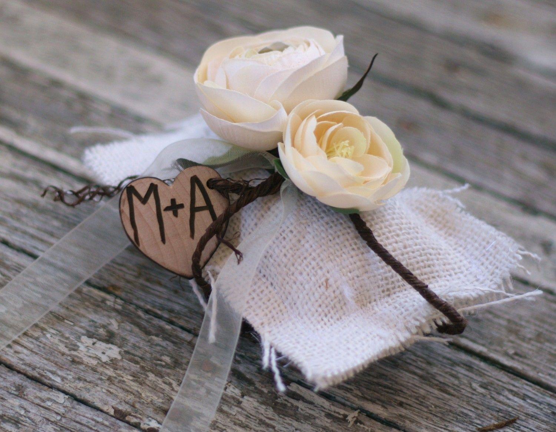 Ring bearer pillow vintage wedding decor item by braggingbags