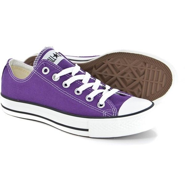 Converse All Star Ox Shoes - Lakers Purple# (67 CAD) ❤ liked on Polyvore