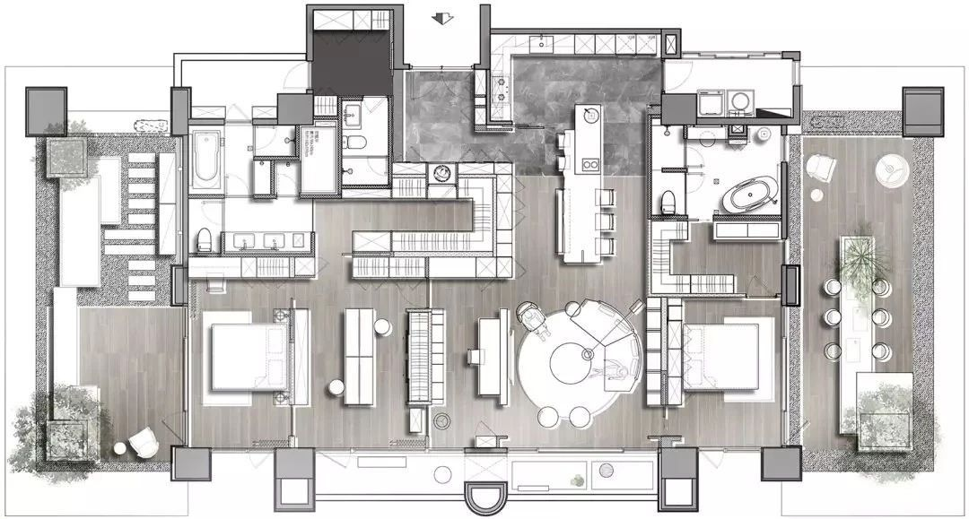 Pin By Shaker Khulief On P家装平面图 Interior Design Layout Home Building Design Apartment Floor Plans