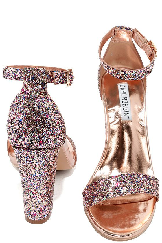 6a00bcfcc13e2 The Starla Colorful Pink Glitter Ankle Strap Heels were made for a night of  dancing! Pink