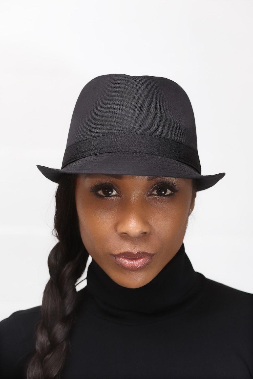 Smooth Criminal fedora hat, in black/black