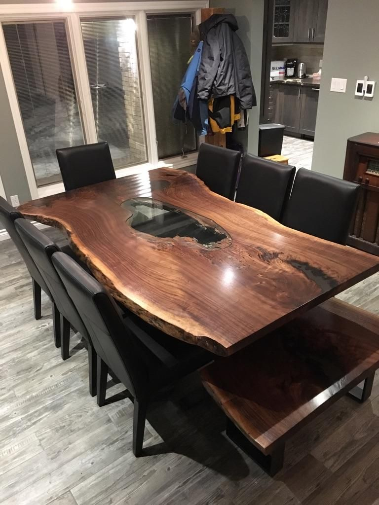 Www Treegreenteam Com Specializing In Live Edge Custom Luxury Furniture You Are Viewing A Custom S Live Edge Dining Table Wood Slab Table Live Edge Furniture