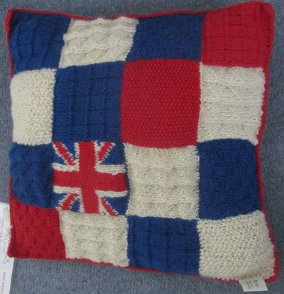 The knitting and Crochet Guild of London will supply 100% london wool stuffed pillows to each Olympian Photo credit:  courtesy Woolsack.org  Woolsack cushions London games