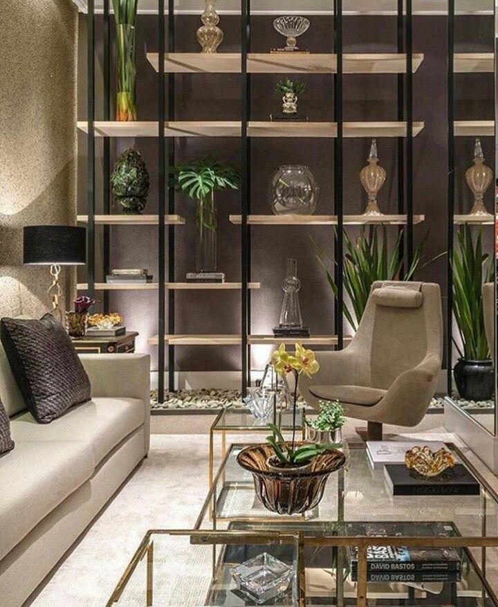 sala estar estante vazada so in love living design pinterest dekorieren wohnzimmer. Black Bedroom Furniture Sets. Home Design Ideas