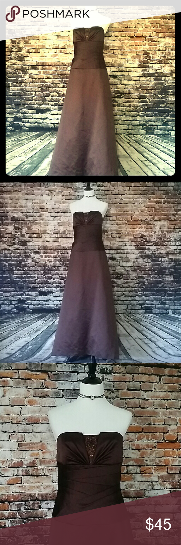 Brown formal davidus bridal gown bridal gowns formal and formal gowns