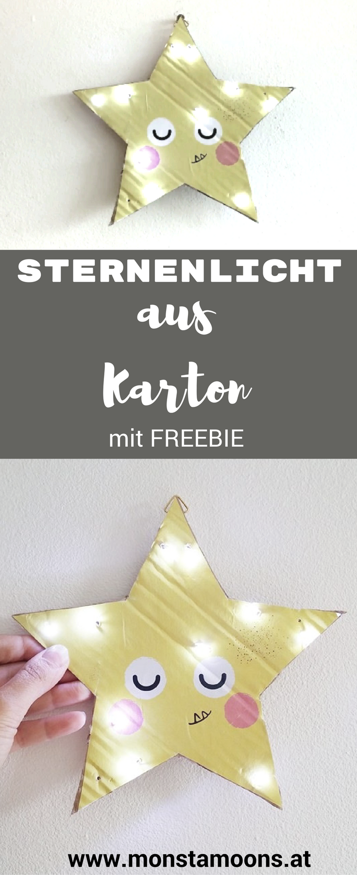 diy gute nacht licht susanne der stern diy basteln f r weihnachten. Black Bedroom Furniture Sets. Home Design Ideas