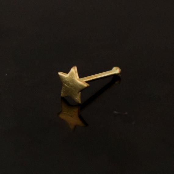 2 mm ball end nose stud in 9ct yellow gold