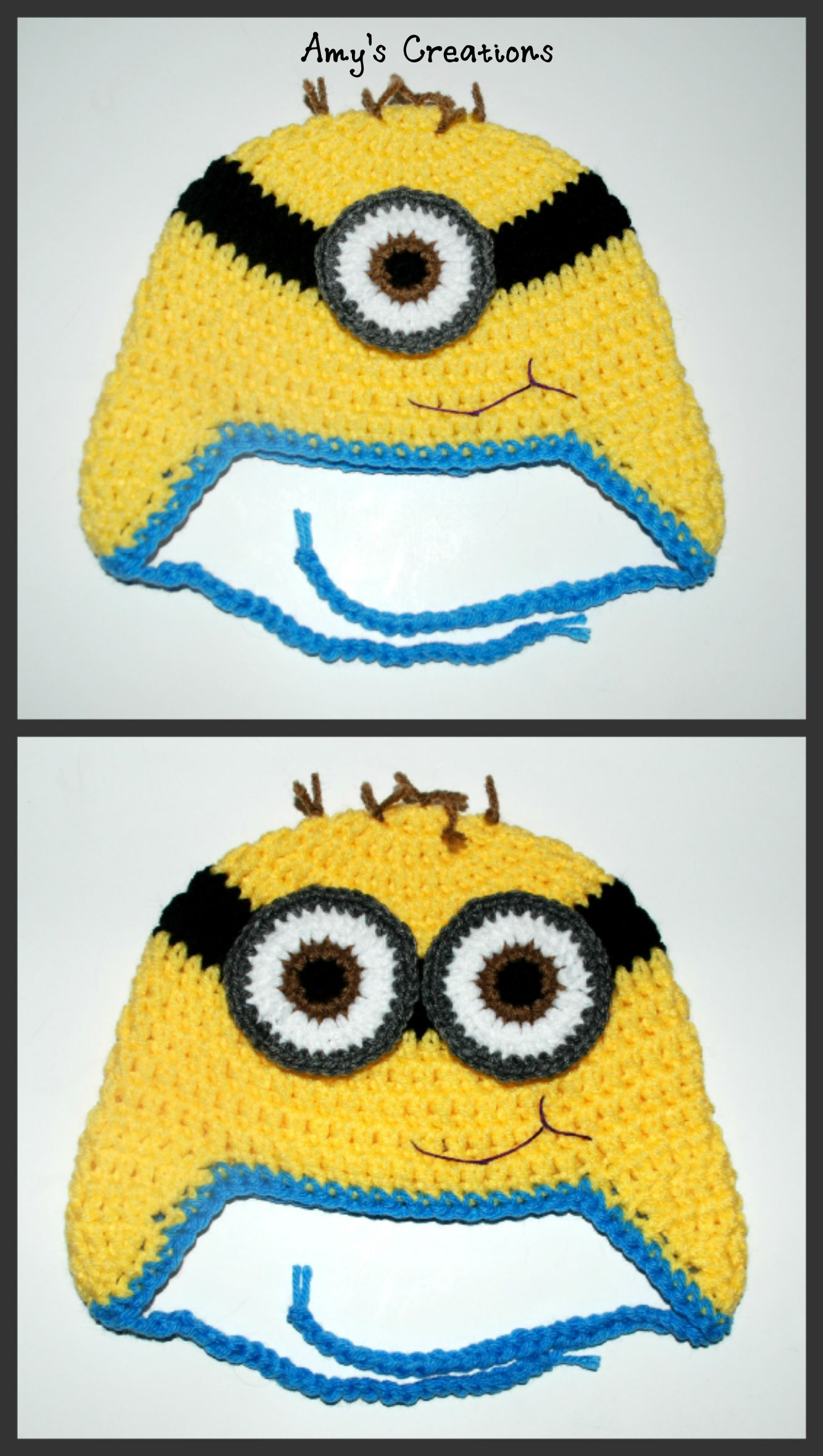 minionhats.jpg 1,333×2,356 pixels | Knit hats | Pinterest | Knitted ...