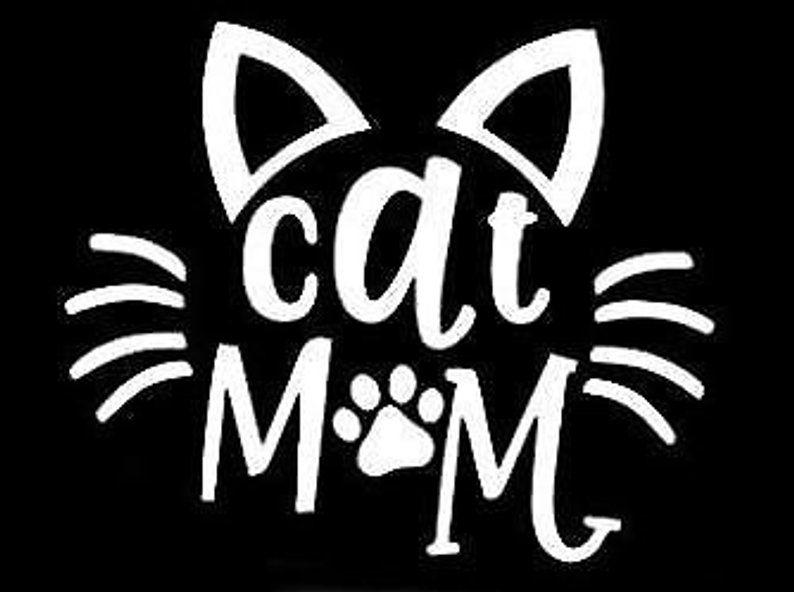 Cat mom decal cats cricut vinyl car window decals