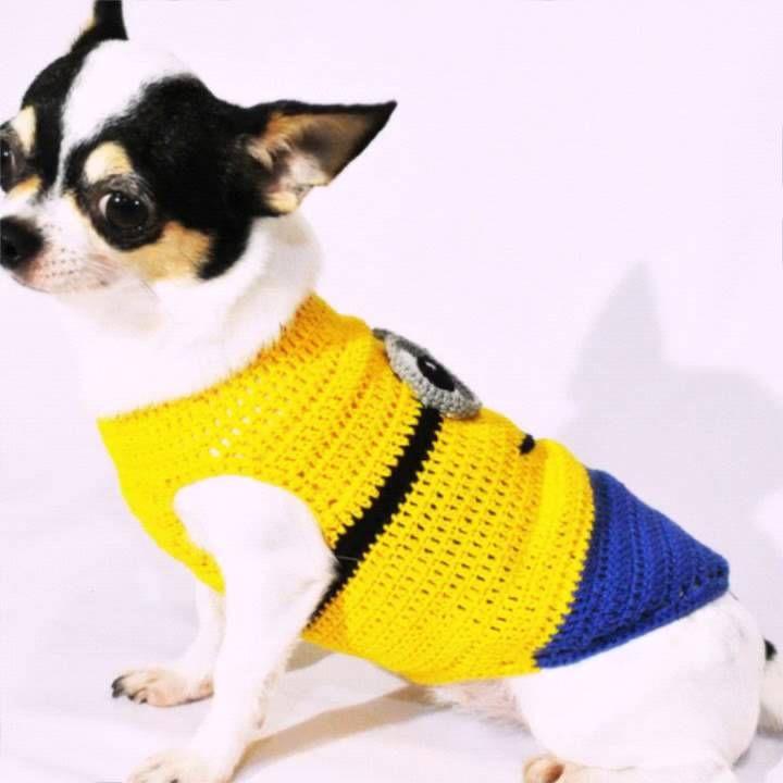 Despicable Me Minions Dog Costumes Crochet Minion Dog Costume
