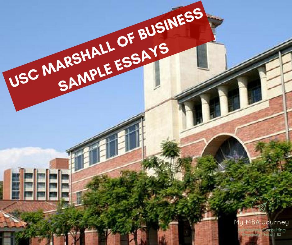 Usc Marshall Of Business Sample Essays Sample Essay Essay Usc