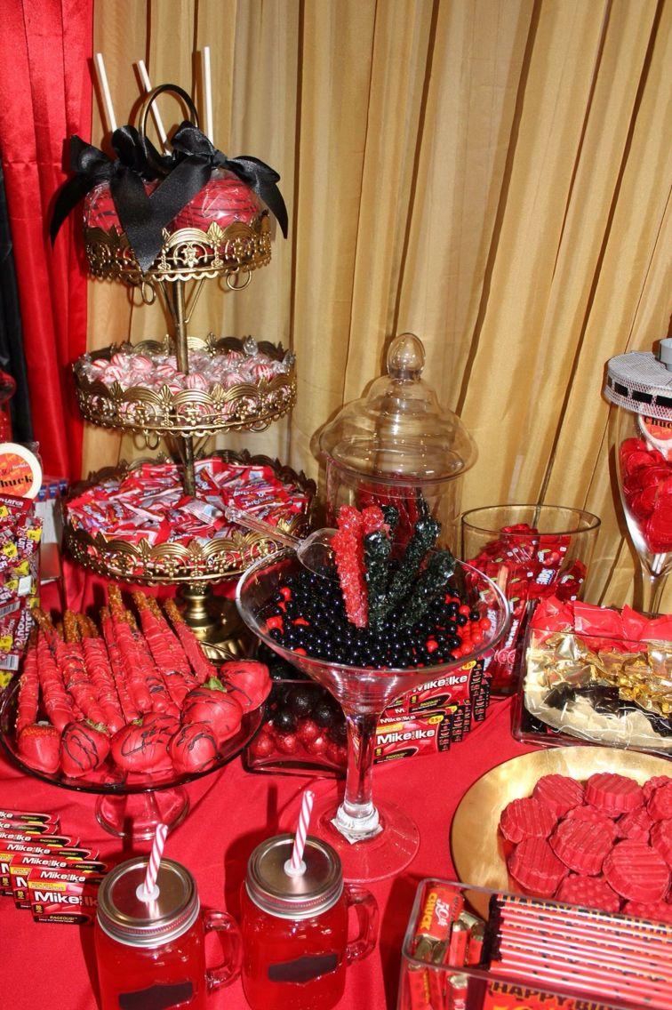 Red Carpet 50th Birthday Party www.latoyagaskinsweddings