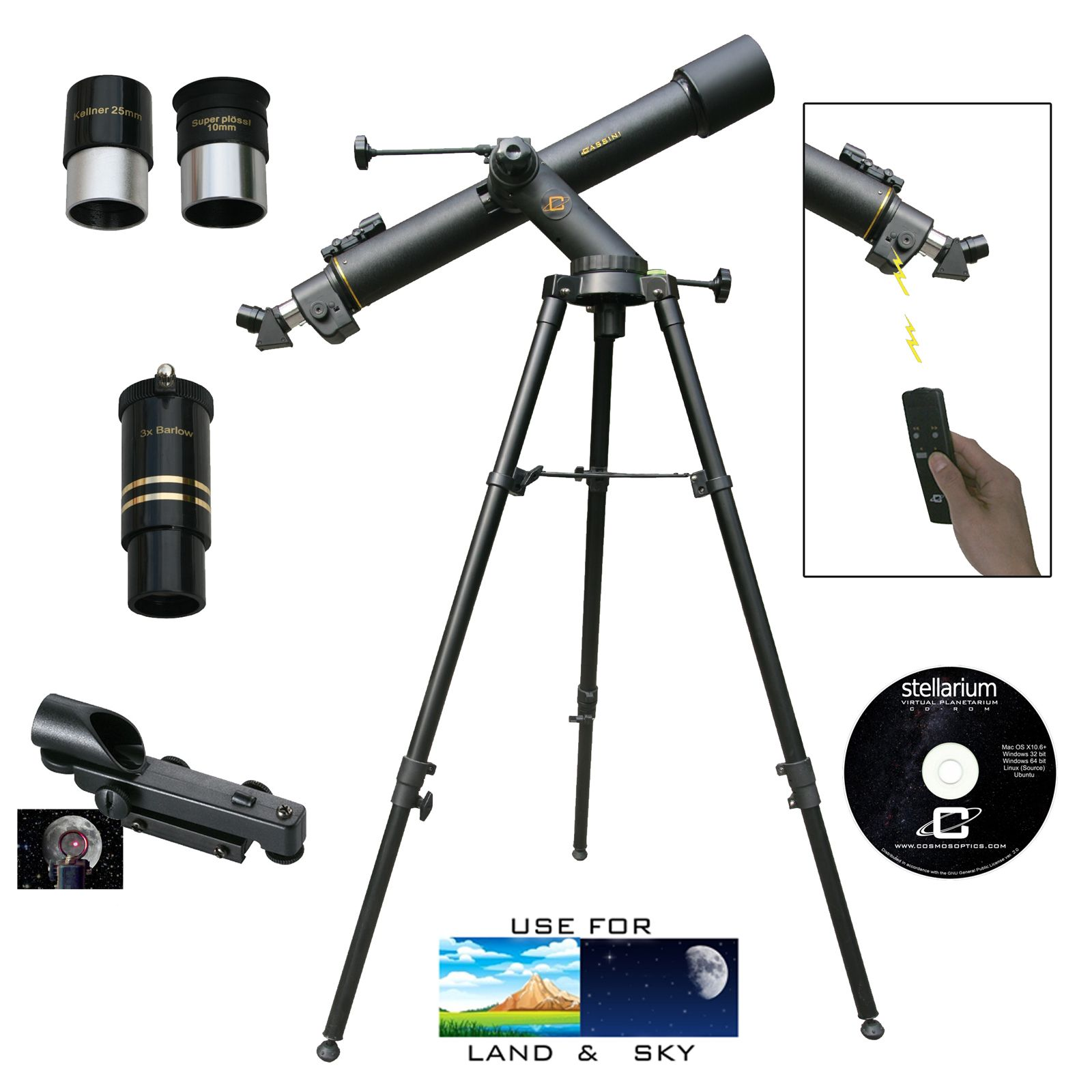High Profile Cassini Electronic Mars Eye Red Dot Finder