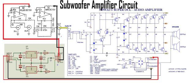 52992b0a0fd43b678a62a6e03a278e95 subwoofer power amplifier circuit ซับวูฟเฟอร์ pinterest circuits