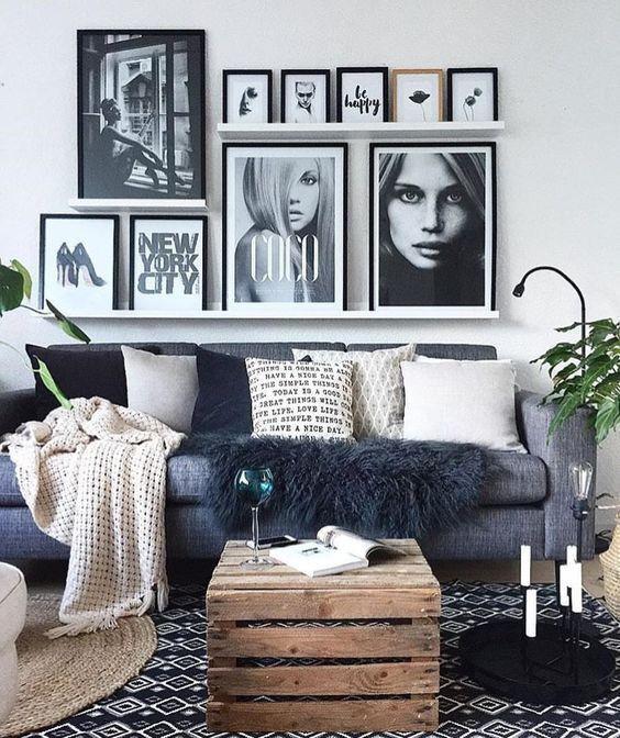 6 designer ways to style an open shelf design en 2019 salon maison cadre salon et d co maison - Cadre salon design ...