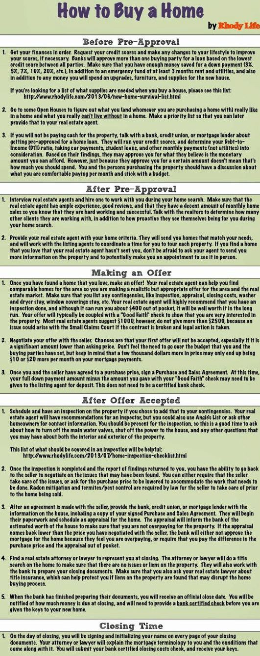 How to Buy a Home Infographic Real Estate News Pinterest Real - home purchase agreement