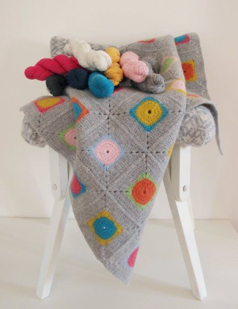 Amazon.com : Luxury Granny Square Crochet Blanket Kit - 100% Soft Lambswool - Everything You Need Included : Arts, Crafts & Sewing