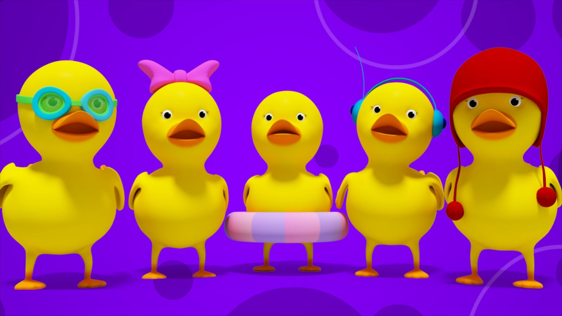 Five Little Ducks 3D Nursery Rhymes Kids Songs Children's Music Video kids  tv S02 EP065