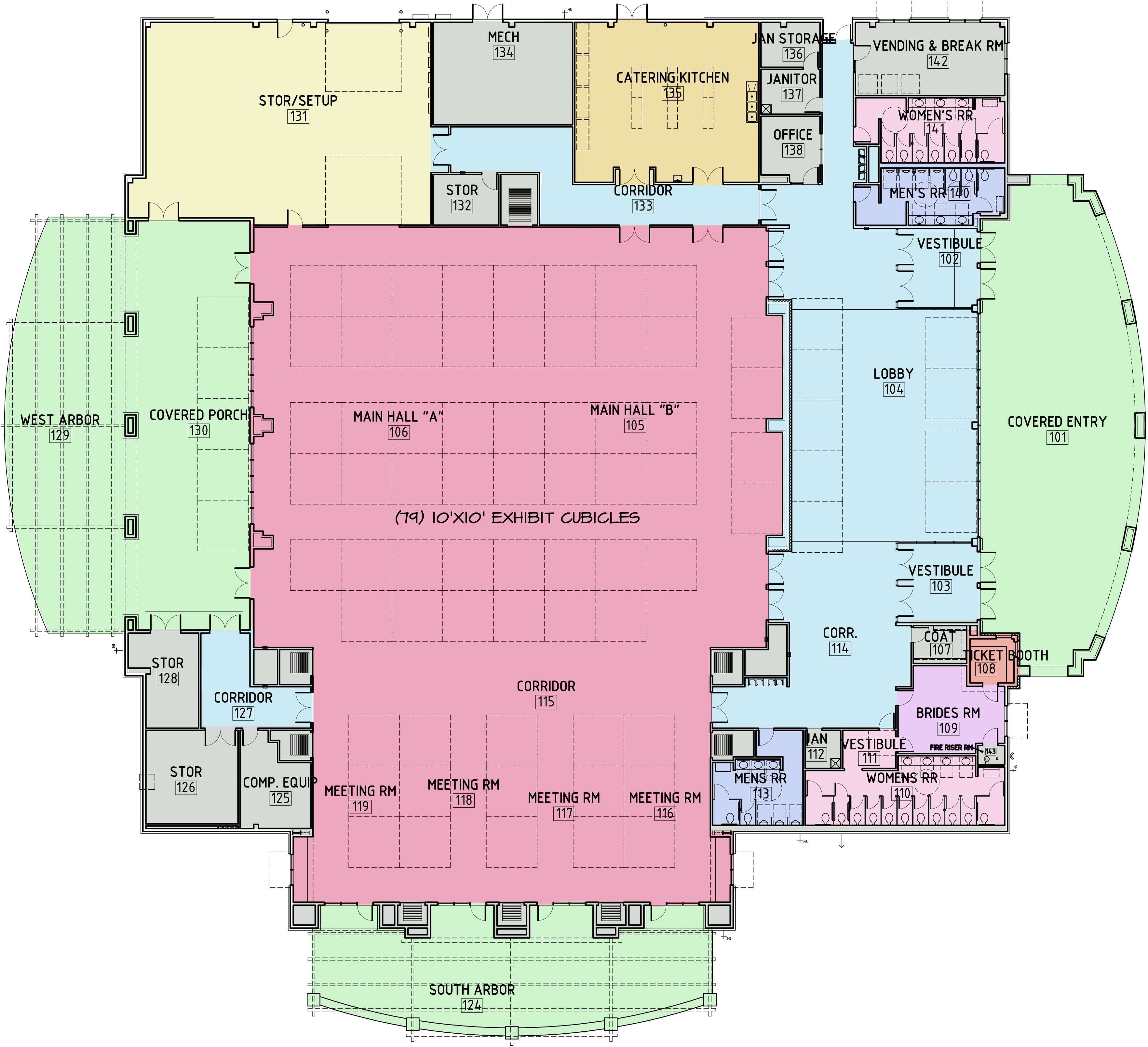 Trade Show Floor Plan Layout Church Building Plans