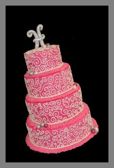 Hot Pink Wedding Cake By tamivo on CakeCentral.com