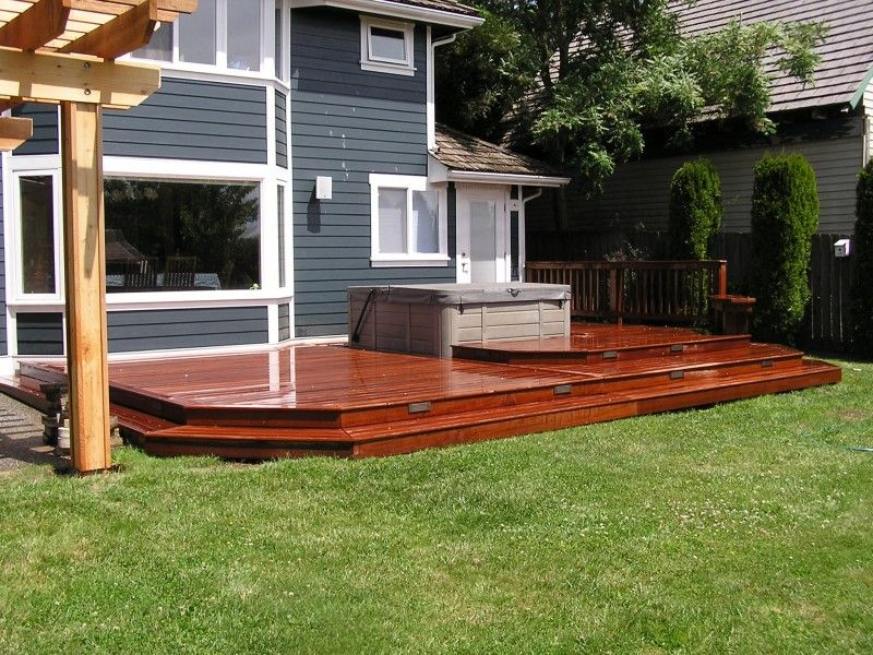 Wonderful Multi Level Ipe Hot Tub Deck With Wrap Around Steps And Lighting. | Deck  And Patio | Pinterest | Hot Tubs, Tubs And Decking